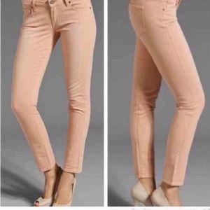 Paige Skyline Ankle Peg Size 27 Peach Pink color